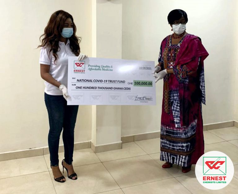 ECL presenting the cheque on behalf of the company.